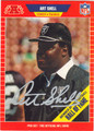 ART SHELL LOS ANGELES RAIDERS AUTOGRAPHED FOOTBALL CARD #72213E