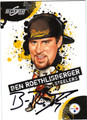 BEN ROETHLISBERGER PITTSBURGH STEELERS AUTOGRAPHED FOOTBALL CARD #72311A