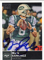 MARK SANCHEZ AUTOGRAPHED FOOTBALL CARD #72311i