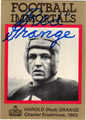 HAROLD RED GRANGE AUTOGRAPHED FOOTBALL CARD #72312N