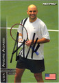 ANDRE AGASSI AUTOGRAPHED TENNIS CARD #72411K