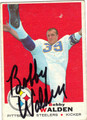 BOBBY WALDEN AUTOGRAPHED VINTAGE FOOTBALL CARD #72411Q