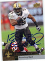 REGGIE BUSH AUTOGRAPHED FOOTBALL CARD #72411D