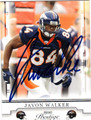 JAVON WALKER AUTOGRAPHED FOOTBALL CARD #72611W