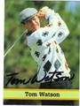 TOM WATSON AUTOGRAPHED GOLF CARD #72612A