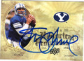 STEVE YOUNG BRIGHAM YOUNG UNIVERSITY AUTOGRAPHED FOOTBALL CARD #72613B