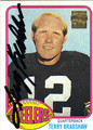 TERRY BRADSHAW PITTSBURGH STEELERS AUTOGRAPHED FOOTBALL CARD #72513i