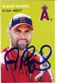 ALBERT PUJOLS AUTOGRAPHED BASEBALL CARD #72412J