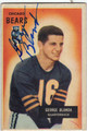 GEORGE BLANDA CHICAGO BEARS AUTOGRAPHED VINTAGE FOOTBALL CARD #72613F