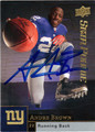 ANDRE BROWN AUTOGRAPHED ROOKIE FOOTBALL CARD #72611i