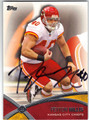 PEYTON HILLIS KANSAS CITY CHIEFS AUTOGRAPHED FOOTBALL CARD #72613i