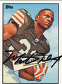 MONTARIO HARDESTY AUTOGRAPHED ROOKIE FOOTBALL CARD #72711i