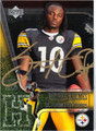 SANTONIO HOLMES AUTOGRAPHED ROOKIE FOOTBALL CARD #72811A