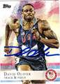 DAVID OLIVER AUTOGRAPHED OLYMPIC TRACK & FIELD CARD #72812G