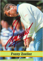 FUZZY ZOELLER AUTOGRAPHED GOLF CARD #72812i