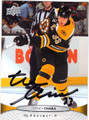 ZDENO CHARA BOSTON BRUINS AUTOGRAPHED HOCKEY CARD #72813i