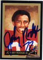 JOHNNY RODGERS UNIVERSITY OF NEBRASKA'S CORNHUSKERS AUTOGRAPHED FOOTBALL CARD #72813J