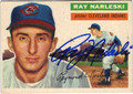 RAY NARLESKI CLEVELAND INDIANS PITCHER AUTOGRAPHED VINTAGE BASEBALL CARD #72913G