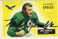 MIKE JARMOLUK PHILADELPHIA EAGLES AUTOGRAPHED VINTAGE FOOTBALL CARD #73013C