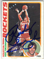 RUDY TOMJANOVICH HOUSTON ROCKETS AUTOGRAPHED VINTAGE BASKETBALL CARD #73013J