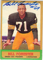 BILL FORESTER GREEN BAY PACKERS AUTOGRAPHED VINTAGE FOOTBALL CARD #73113C