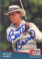 Butch Baird Autographed Golf Card 744