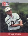 Frank Beard Autographed Golf Card 764