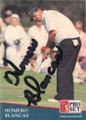Homero Blancas Autographed Golf Card 777