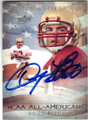 DOUG FLUTIE BOSTON COLLEGE AUTOGRAPHED FOOTBALL CARD #73013D