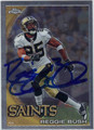 REGGIE BUSH NEW ORLEANS SAINTS AUTOGRAPHED FOOTBALL CARD #80111J