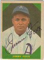 JIMMIE FOXX PHILADELPHIA ATHLETICS AUTOGRAPHED VINTAGE BASEBALL CARD #80113A