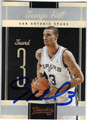 GEORGE HILL SAN ANTONIO SPURS AUTOGRAPHED BASKETBALL CARD #80213L