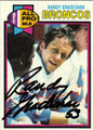 RANDY GRADISHAR AUTOGRAPHED VINTAGE FOOTBALL CARD #80311B