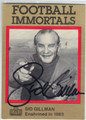 SID GILLMAN AUTOGRAPHED FOOTBALL CARD #80213E