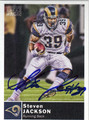 STEVEN JACKSON ST LOUIS RAMS AUTOGRAPHED FOOTBALL CARD #80213G