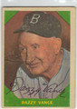 DAZZY VANCE BROOKLYN DODGERS AUTOGRAPHED VINTAGE BASEBALL CARD #80213D