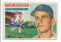 TOM BREWER AUTOGRAPHED CARD #80510C