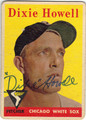 DIXIE HOWELL CHICAGO WHITE SOX AUTOGRAPHED VINTAGE BASEBALL CARD #80413B