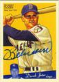 BOBBY DOERR AUTOGRAPHED BASEBALL CARD #80611F