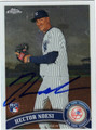 HECTOR NOESI AUTOGRAPHED ROOKIE BASEBALL CARD #80612F