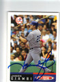 JASON GIAMBI NEW YORK YANKEES AUTOGRAPHED BASEBALL CARD #80613B