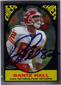 DANTE HALL KANSAS CITY CHIEFS AUTOGRAPHED FOOTBALL CARD #80713E