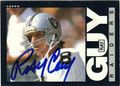 RAY GUY AUTOGRAPHED VINTAGE FOOTBALL CARD #80812F