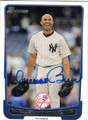 MARIANO RIVERA NEW YORK YANKEES AUTOGRAPHED BASEBALL CARD #80813K