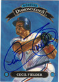 CECIL FIELDER DETROIT TIGERS AUTOGRAPHED BASEBALL CARD #80712Q