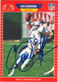 ERIC DICKERSON INDIANAPOLIS COLTS AUTOGRAPHED FOOTBALL CARD #80813G