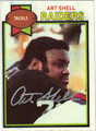 ART SHELL AUTOGRAPHED VINTAGE FOOTBALL CARD #80911L