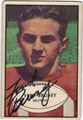 FRED BRUNEY CLEVELAND BROWNS AUTOGRAPHED VINTAGE ROOKIE FOOTBALL CARD #80813D