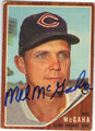 MEL McGAHA CLEVELAND INDIANS AUTOGRAPHED VINTAGE BASEBALL CARD #80813F