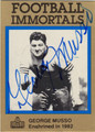 GEORGE MUSSO AUTOGRAPHED FOOTBALL CARD #81012C